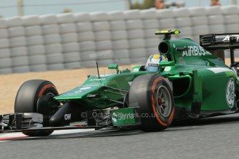 World © Octane Photographic Ltd. Saturday 10th May 2014. Circuit de Catalunya - Spain - Formula 1 Practice 3. Caterham F1 Team CT05 – Marcus Ericsson. Digital Ref: 0935lb1d7452