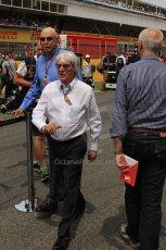 World © Octane Photographic Ltd. Sunday 11th May 2014. Circuit de Catalunya - Spain - Formula 1 Grid. Bernie Ecclestone. Digital Ref: