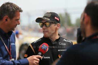 World © Octane Photographic Ltd. Sunday 11th May 2014. Circuit de Catalunya - Spain - Formula 1 Driver Parade. Lotus F1 Team E22 – Pastor Maldonado. Digital Ref: