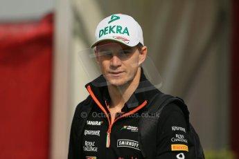 World © Octane Photographic Ltd. Sunday 11th May 2014. Circuit de Catalunya - Spain - Formula 1 Paddock. Sahara Force India VJM07 – Nico Hulkenburg. Digital Ref :