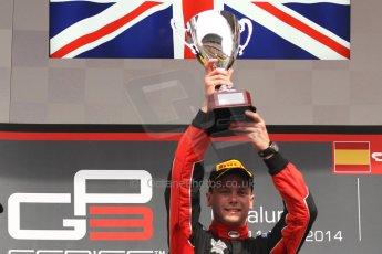 World © Octane Photographic Ltd. Sunday 11th May 2014. GP3 Race 2 – Circuit de Catalunya, Barcelona, Spain. Dean Stoneman (1st) - Marussia Manor Racing. Digital Ref : 0940cb7d0688