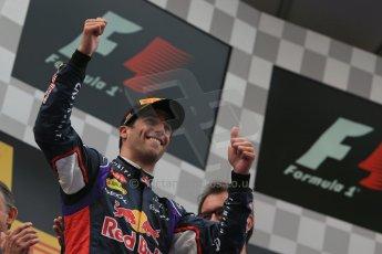 World © Octane Photographic Ltd. Thursday 8th May 2014. Circuit de Catalunya - Spain - Formula 1 Podium. Infiniti Red Bull Racing RB10 – Daniel Ricciardo (3rd). Digital Ref: