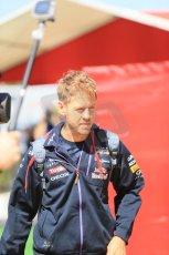 World © Octane Photographic Ltd. Thursday 8th May 2014. Circuit de Catalunya - Spain - Formula 1 Paddock. Infiniti Red Bull Racing RB10 - Sebastian Vettel. Digital Ref: 0922lb1d2734