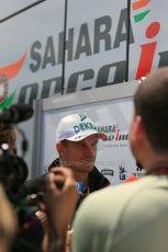 World © Octane Photographic Ltd. Thursday 8th May 2014. Circuit de Catalunya - Spain - Formula 1 Paddock. Sahara Force India VJM07 – Nico Hulkenburg. Digital Ref : 0922lb1d2919