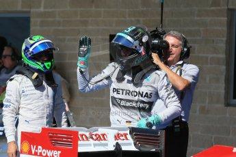 World © Octane Photographic Ltd. Saturday 1st November 2014, F1 USA GP, Austin, Texas, Circuit of the Americas (COTA) - Qualifying. Mercedes AMG Petronas F1 W05 Hybrid - Nico Rosberg. Digital Ref: 1149LB1D0377
