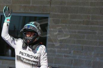 World © Octane Photographic Ltd. Saturday 1st November 2014, F1 USA GP, Austin, Texas, Circuit of the Americas (COTA) - Qualifying. Mercedes AMG Petronas F1 W05 Hybrid - Nico Rosberg. Digital Ref: 1149LB1D0384