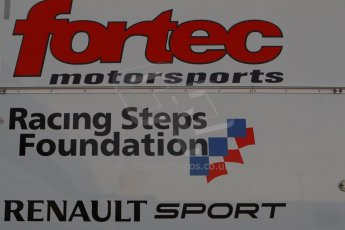 World © Octane Photographic Ltd. World Series by Renault collective test, Jerez de la Frontera, March 24th 2014. Fortec Motorsport, racing Steps Foundation and Renault Sport logo. Digital Ref :  0897cb1d4458