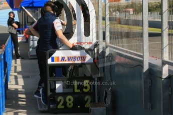 World © Octane Photographic Ltd. World Series by Renault collective test, Jerez de la Frontera, March 24th 2014. Pons Racing – Robert Visoiu Pit Board. Digital Ref : 0897lb1d7372