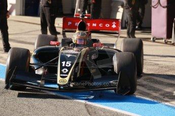 World © Octane Photographic Ltd. World Series by Renault collective test, Jerez de la Frontera, March 26th 2014. Lotus – Marlon Stockinger. Digital Ref : 0899cb1d7034