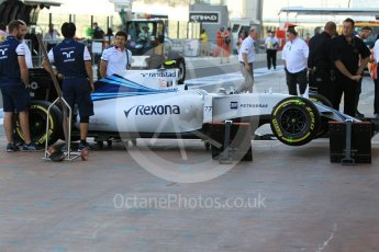 World © Octane Photographic Ltd. Williams Martini Racing FW37 – Valtteri Bottas. Friday 27th November 2015, F1 Abu Dhabi Grand Prix, Practice 1, Yas Marina. Digital Ref: 1477CB1L4743