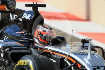 World © Octane Photographic Ltd. Sahara Force India VJM08B – Nico Hulkenberg. Friday 27th November 2015, F1 Abu Dhabi Grand Prix, Practice 1, Yas Marina. Digital Ref: 1477CB1L5027