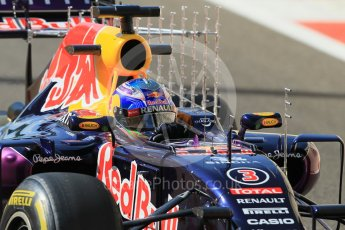 World © Octane Photographic Ltd. Infiniti Red Bull Racing RB11 – Daniel Ricciardo. Friday 27th November 2015, F1 Abu Dhabi Grand Prix, Practice 1, Yas Marina. Digital Ref: 1477CB1L5112