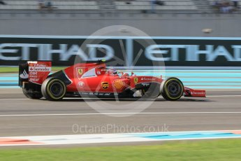 World © Octane Photographic Ltd. Scuderia Ferrari SF15-T– Kimi Raikkonen. Friday 27th November 2015, F1 Abu Dhabi Grand Prix, Practice 1, Yas Marina. Digital Ref: 1477CB1L5234