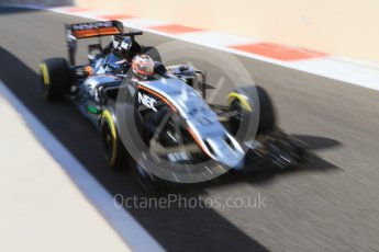 World © Octane Photographic Ltd. Sahara Force India VJM08B – Nico Hulkenberg. Friday 27th November 2015, F1 Abu Dhabi Grand Prix, Practice 1, Yas Marina. Digital Ref: 1477CB7D1756