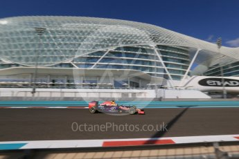 World © Octane Photographic Ltd. Infiniti Red Bull Racing RB11 – Daniel Ricciardo. Friday 27th November 2015, F1 Abu Dhabi Grand Prix, Practice 1, Yas Marina. Digital Ref: 1477LB1D6668