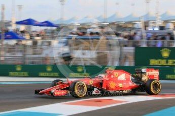 World © Octane Photographic Ltd. Scuderia Ferrari SF15-T– Kimi Raikkonen. Friday 27th November 2015, F1 Abu Dhabi Grand Prix, Practice 2, Yas Marina. Digital Ref: 1478CB1L5738