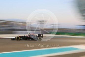 World © Octane Photographic Ltd. McLaren Honda MP4/30 - Jenson Button. Friday 27th November 2015, F1 Abu Dhabi Grand Prix, Practice 2, Yas Marina. Digital Ref: 1478CB7D2033