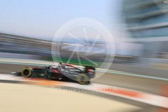World © Octane Photographic Ltd. McLaren Honda MP4/30 – Fernando Alonso. Friday 27th November 2015, F1 Abu Dhabi Grand Prix, Practice 2, Yas Marina. Digital Ref: 1478CB7D2093