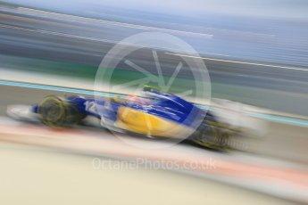 World © Octane Photographic Ltd. Sauber F1 Team C34-Ferrari – Felipe Nasr. Friday 27th November 2015, F1 Abu Dhabi Grand Prix, Practice 2, Yas Marina. Digital Ref: 1478CB7D2116