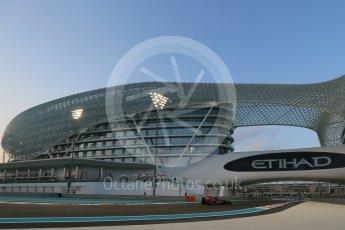 World © Octane Photographic Ltd. Scuderia Toro Rosso STR10 – Max Verstappen. Friday 27th November 2015, F1 Abu Dhabi Grand Prix, Practice 2, Yas Marina. Digital Ref: 1478LB1D7171