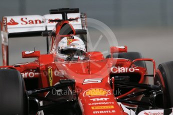 World © Octane Photographic Ltd. Scuderia Ferrari SF15-T– Sebastian Vettel. Friday 27th November 2015, F1 Abu Dhabi Grand Prix, Practice 2, Yas Marina. Digital Ref: 1478LB1D7885