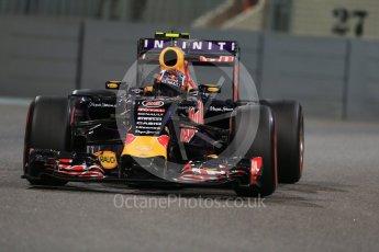 World © Octane Photographic Ltd. Infiniti Red Bull Racing RB11 – Daniil Kvyat. Friday 27th November 2015, F1 Abu Dhabi Grand Prix, Practice 2, Yas Marina. Digital Ref: 1478LB1D7941
