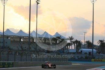 World © Octane Photographic Ltd. Scuderia Ferrari SF15-T– Kimi Raikkonen. Friday 27th November 2015, F1 Abu Dhabi Grand Prix, Practice 2, Yas Marina. Digital Ref: 1478LB5D4083