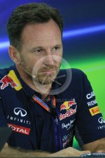 World © Octane Photographic Ltd.. Friday 27th November 2015, F1 Abu Dhabi Grand Prix, Team Personnel FIA Press Conference, Yas Marina. Christian Horner – Infiniti Red Bull Racing Team Principle. Digital Ref: 1480LB1D8089