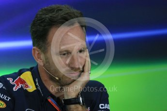 World © Octane Photographic Ltd.. Friday 27th November 2015, F1 Abu Dhabi Grand Prix, Team Personnel FIA Press Conference, Yas Marina. Christian Horner – Infiniti Red Bull Racing Team Principle. Digital Ref: 1480LB1D8110