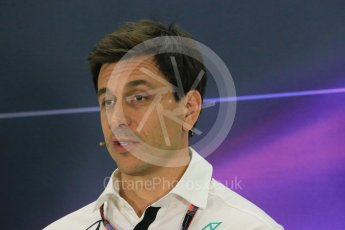 World © Octane Photographic Ltd.. Friday 27th November 2015, F1 Abu Dhabi Grand Prix, Team Personnel FIA Press Conference, Yas Marina. Toto Wolff – Mercedes AMG Petronas Executive Director. Digital Ref: 1480LB1D8221