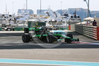 World © Octane Photographic Ltd. Friday 27th November 2015. Status Grand Prix – Marlon Stockinger. GP2 Practice, Yas Marina, Abu Dhabi. Digital Ref. : 1476LB5D3933