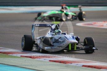 World © Octane Photographic Ltd. Friday 27th November 2015. Koiranen GP – Jimmy Eriksson and Status Grand Prix – Sandy Stuvik. GP3 Qualifying - Yas Marina, Abu Dhabi. Digital Ref. : 1479CB1L5439
