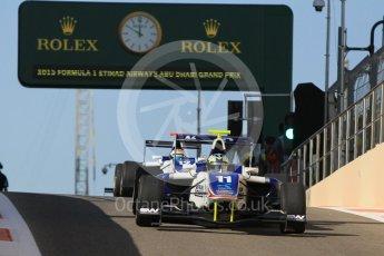 World © Octane Photographic Ltd. Friday 27th November 2015. Koiranen GP – Jimmy Eriksson and Matthew Parry. GP3 Practice - Yas Marina, Abu Dhabi. Digital Ref. : 1475CB1L4501