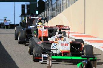 World © Octane Photographic Ltd. Friday 27th November 2015. Campos Racing – Konstantin Tereshchenko and Trident – Artur Janosz. . GP3 Practice - Yas Marina, Abu Dhabi. Digital Ref. : 1475CB1L4525