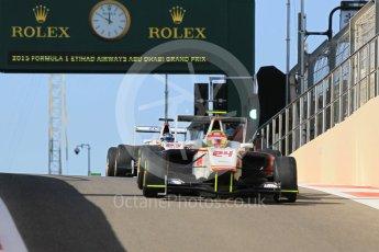 World © Octane Photographic Ltd. Friday 27th November 2015. Campos Racing – Alex Palou and Zaid Ashkanani. GP3 Practice - Yas Marina, Abu Dhabi. Digital Ref. : 1475CB1L4530