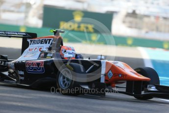World © Octane Photographic Ltd. Friday 27th November 2015. Trident – Luca Ghiotto. GP3 Practice - Yas Marina, Abu Dhabi. Digital Ref. : 1475LB1D5289