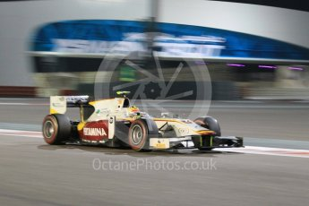 World © Octane Photographic Ltd. Friday 27th November 2015. Campos Racing – Rio Haryanto. GP2 Qualifying, Yas Marina, Abu Dhabi. Digital Ref. : 1481CB1L5979