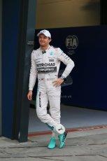 World © Octane Photographic Ltd. Mercedes AMG Petronas F1 W06 Hybrid – Nico Rosberg. Saturday 14th March 2015, F1 Australian GP Qualifying Parc Ferme, Melbourne, Albert Park, Australia. Digital Ref: 1206LB1D8117