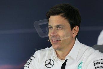 World © Octane Photographic Ltd. Mercedes AMG Petronas – Toto Wolff – Head of Mercedes Motorsport. Friday 13th March 2015, F1 Australian GP FIA Team Boss Press Conference, Melbourne, Albert Park, Australia. Digital Ref: 1202LB1D6216