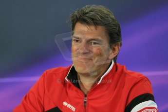 World © Octane Photographic Ltd. Manor Marussia F1 Team – Graham Lowden - Chief Executive Officer (CEO). Friday 13th March 2015, F1 Australian GP FIA Team Boss Press Conference, Melbourne, Albert Park, Australia. Digital Ref: 1202LB1D6531
