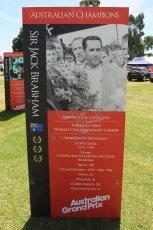 World © Octane Photographic Ltd. Wednesday 11th March 2015, F1 Australian GP, Melbourne, Albert Park, Australia, Sir Jack Brabham. Digital Ref: 1197LW1L5593