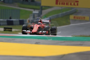 World © Octane Photographic Ltd. Scuderia Ferrari SF15-T– Kimi Raikkonen. Friday 19th June 2015, F1 Austrian GP Practice 1, Red Bull Ring, Spielberg, Austria. Digital Ref: 1304LB1D5057