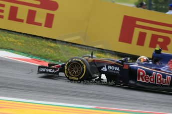 World © Octane Photographic Ltd. Scuderia Toro Rosso STR10 – Carlos Sainz Jnr. Friday 19th June 2015, F1 Austrian GP Practice 1, Red Bull Ring, Spielberg, Austria. Digital Ref: 1304LB1D5072
