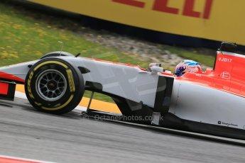 World © Octane Photographic Ltd. Manor Marussia F1 Team MR03B – William Stevens. Friday 19th June 2015, F1 Austrian GP Practice 1, Red Bull Ring, Spielberg, Austria. Digital Ref: 1304LB1D5466
