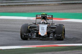World © Octane Photographic Ltd. Sahara Force India VJM08 – Sergio Perez. Friday 19th June 2015, F1 Austrian GP Practice 1, Red Bull Ring, Spielberg, Austria. Digital Ref: 1304LB1D5603