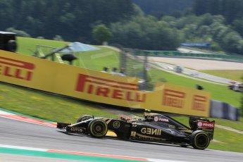 World © Octane Photographic Ltd. Lotus F1 Team E23 Hybrid – Pastor Maldonado. Friday 19th June 2015, F1 Austrian GP Practice 1, Red Bull Ring, Spielberg, Austria. Digital Ref: 1304LW1L2563