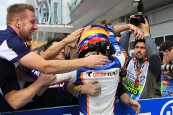 World © Octane Photographic Ltd. Sunday 21st June 2015. Trident – Oscar Tunjo. GP3 Race 2 – Red Bull Ring, Spielberg, Austria. Digital Ref. : 1316LW1L3817