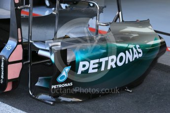World © Octane Photographic Ltd. Mercedes AMG Petronas F1 W06 Hybrid sidepod– Nico Rosberg. Friday 21st August 2015, F1 Belgian GP Pitlane, Spa-Francorchamps, Belgium. Digital Ref: 1379LB1D7428
