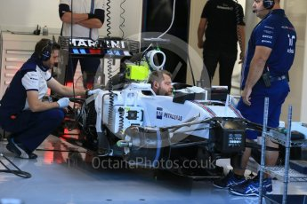 World © Octane Photographic Ltd. Williams Martini Racing FW37 front brakes and suspension – Felipe Massa. Friday 21st August 2015, F1 Belgian GP Pitlane, Spa-Francorchamps, Belgium. Digital Ref: 1379LB1D7476