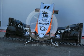 World © Octane Photographic Ltd. Sahara Force India VJM08B old design nose – Sergio Perez. Friday 21st August 2015, F1 Belgian GP Pitlane, Spa-Francorchamps, Belgium. Digital Ref: 1379LB1D7501